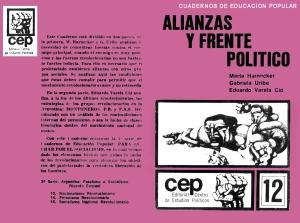 """""""Cuadernos de Educación Popular"""" - serie de breves libros de formación escritos por Marta Harnecker - publicados durante el gobierno de Unidad Popular en Chile - año 1979  - Interesantes para la formación - en los mensajes: artículo sobre Marta Harnecker Alianzas-y-frente-politico"""