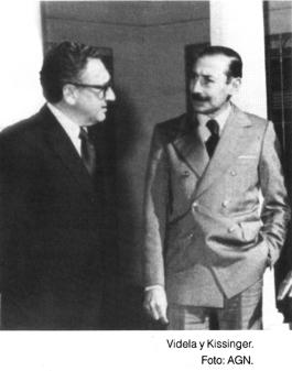 Henry Kissinger y Jorge Rafaél Videla. Culpables de genocidio