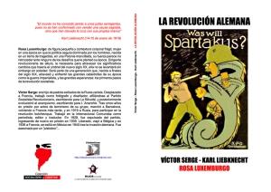 La revolución alemana - Rosa Luxemburgo – Karl Liebknecht – Víctor Serge - colección Socialismo y Libertad - formato pdf Libro-01
