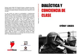 Dialéctica y conciencia de clase - Compilación de diversos textos de György Lukács - formato pdf Libro-22
