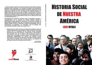 Historia social de Nuestra América - Luis Vitale - edición de 1997 - colección Socialismo y Libertad - formato pdf Libro-60