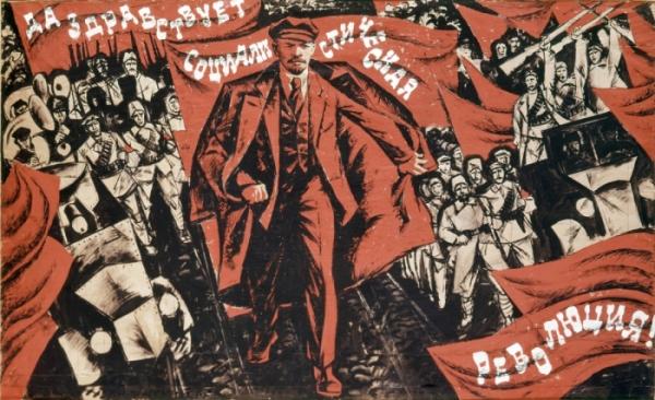 lenin-poster-revolución-1917