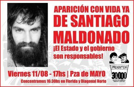 Santiago Maldonado 11 de agosto
