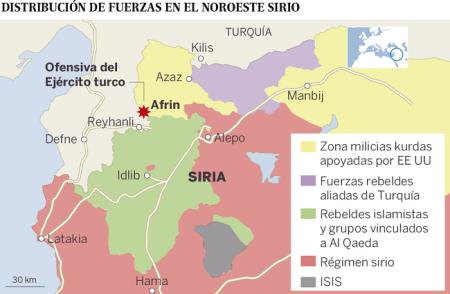 Afrin-mapa