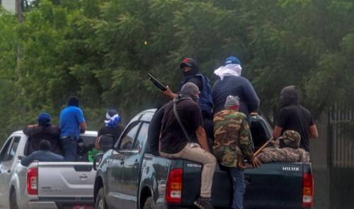 Paramilitares en Managua Junio 2018