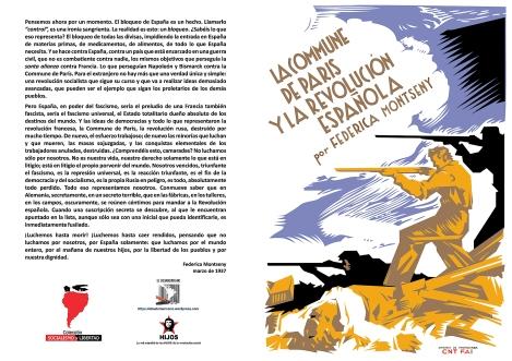 La Commune de París y La revolución española (marzo 1937) - El anarquismo militante y la realidad española (enero 1937) - Dos conferencias de Federica Montseny - formato pdf LIBRO.145