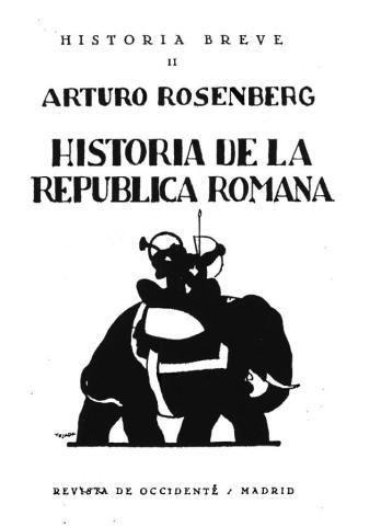 Arthur Rosemberg-Historia de la rep.Romana