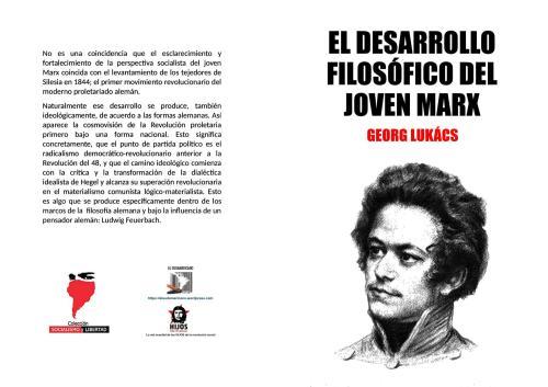 El desarrollo filosófico del joven Marx (1840-1844) - Georg Luckács - colección Socialismo y Libertad - El Sudamericano - formato pdf Libro.192