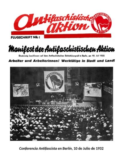 Manifest ANTIFACISTAKTION.1932